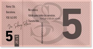 Doctora Blanco - Medicina Estética - Barcelona - Tickets 25 x 5